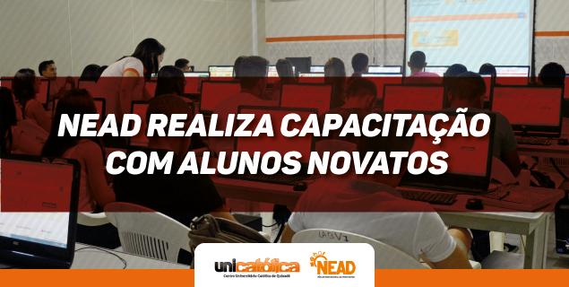 NEAD realiza capacitação com os alunos novatos da Unicatólica