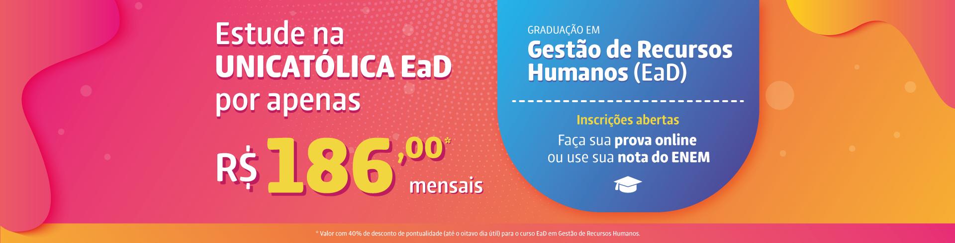 Conheça o curso de Gestão de Recursos Humanos da UNICATÓLICA EaD